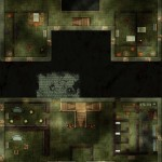 Interiors of each of the four floors of the plague villa, exterior and surroundings on another battlemap